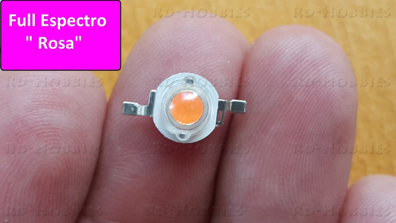 60 Unid Lampada Super Led 1w Rosa Full Espectro Grow Plant