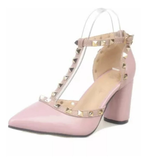 Sapato Salto Grosso Importada Ref00002