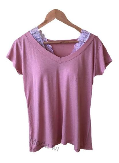 Kit Com 4 Blusa Shirt Podrinha Mas 1 Top De Brinde M G Gg