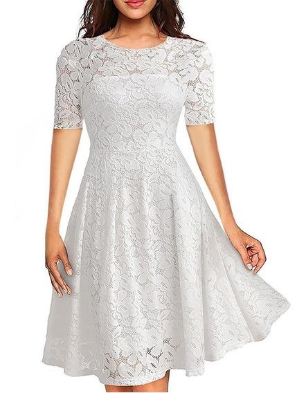 Vestido Moda Gospel Renda Rodado Madrinha Noiva V10 Princesa