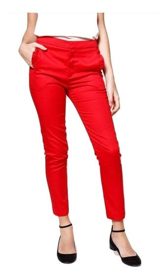 Las Oreiro Pantalon Rojo