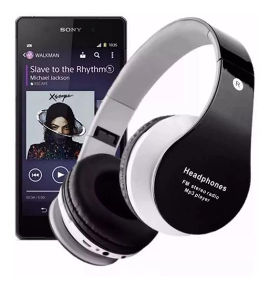 Fone De Ouvido Headphone Bluetooth Sem Fio Micro Fm