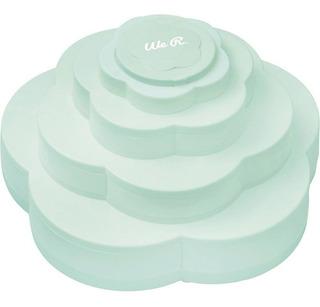 Caja Organizadora En Forma De Rosa Color Mint We R Memory Ke