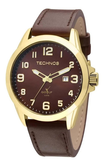 Relógio Masculino Analógico Technos 2115knz/kom - Marrom