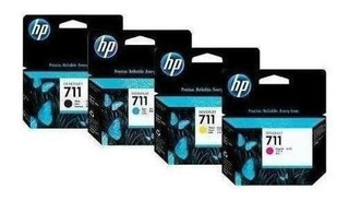 Kit 4 Cartuchos Tinta Hp 711 Negro Y Color Para Plotter T120