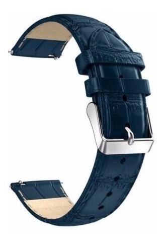 Pulseira Fenix 5 Couro Relógio Garmin Azul - Pronta Entrega