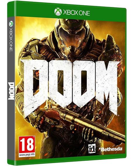 Jogo Doom Xbox One Midia Fisica Novo Lacrado Original Oferta