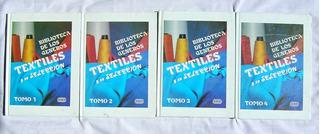 Biblioteca De Los Generos Textiles, 4 Libros, Serie Completa