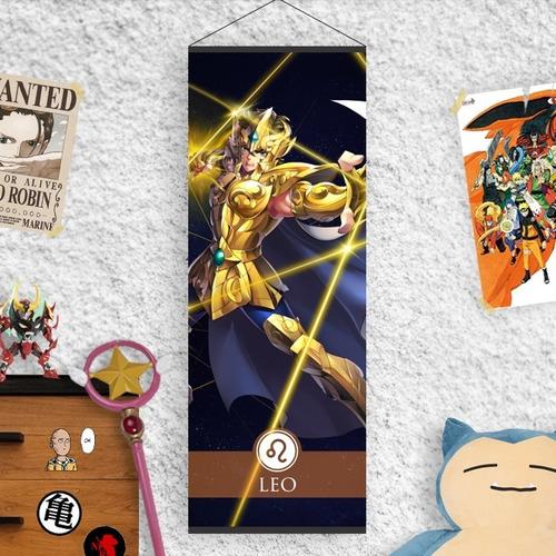Imagen 1 de 2 de Lona Caballeros Del Zodiaco Armadura Dorada Leo Aiolia