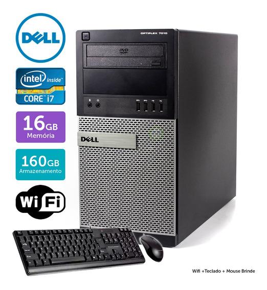 Desktop Usado Dell Optiplex 7010mt I7 16gb 160gb Brinde
