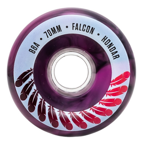 Roda Longboard Hondar Falcon 70mm 86a Bicomposição Vermelha