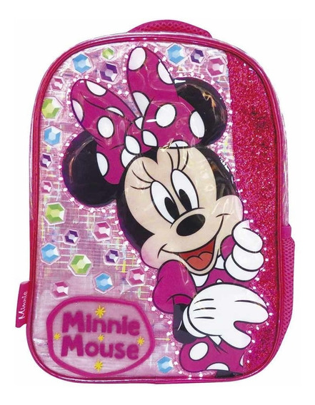 Mochila De Espalda Minnie Con Luz Km207 Disney Original 12