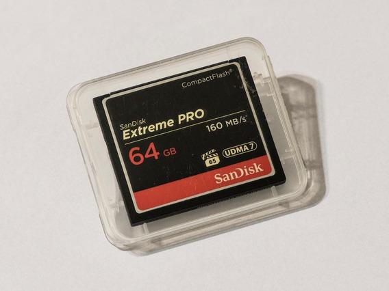 Cartão Cf - Compact Flash Sandisk Extreme Pro 64gb