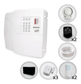 Kit Alarme Residencial Ppa 5 Sensores + Discadora E Bateria