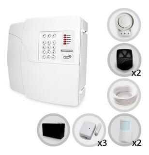 Kit Alarme Residencial Ppa 5 Sensores Discadora E Bateria