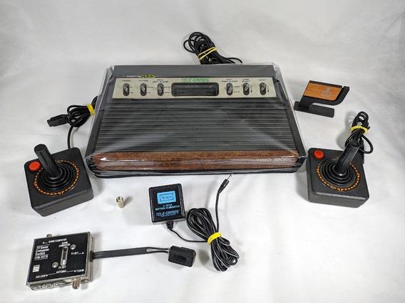 Console Atari 2600 Sears Heavy Sixer Completo Colecionador