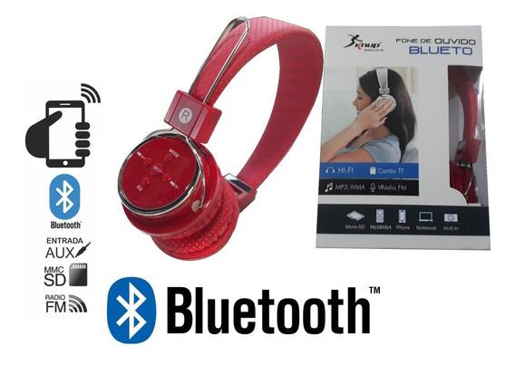 Fone De Ouvido Bluetooth Headphone Sem Fio Knup Original