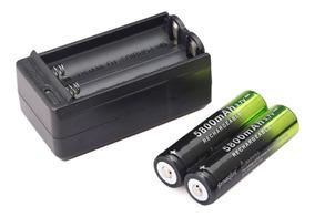 Bateria + Carregador Gtf 3.7v 18650 Li-ion 5800mah