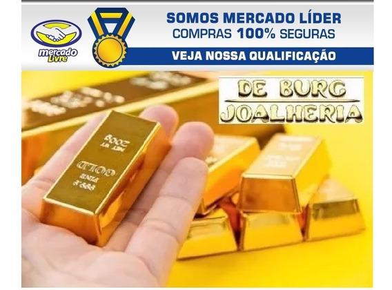 Barra De Ouro 18k 0,50g (meio Grama) Envio Rápido Mesmo Dia