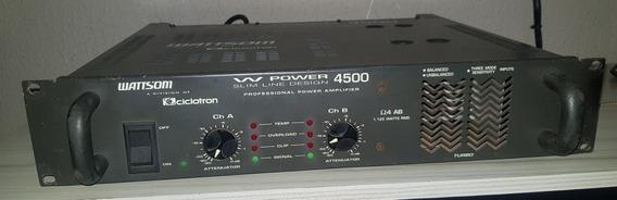 Amplificador Potencia Wattsom W Power 4500 Slim Line Profiss