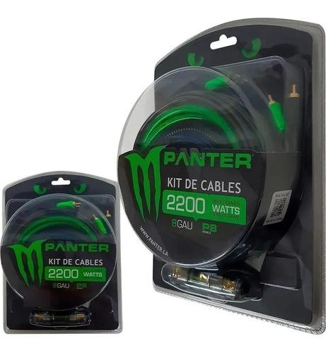 Kit De Cables 8 Gauges Panter P8 2200w Potencia Instalacion
