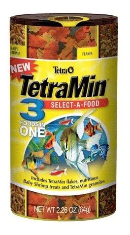 Imagen 1 de 1 de Tetra Tetramin Selec A Food 3 En 1 68 G. Alimento Peces Nutricion Dieta Equilibrada