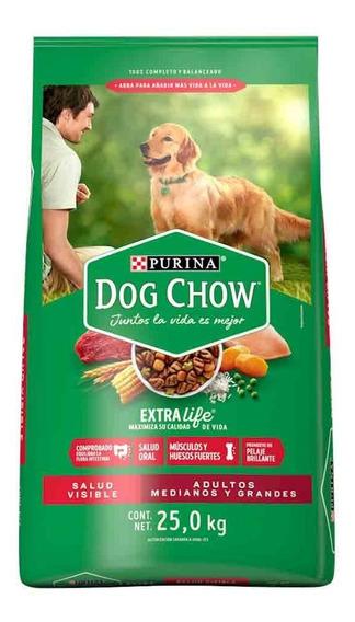 Dog Chow Alim Perro Adulto Razas Grandes Bulto 25 Kg
