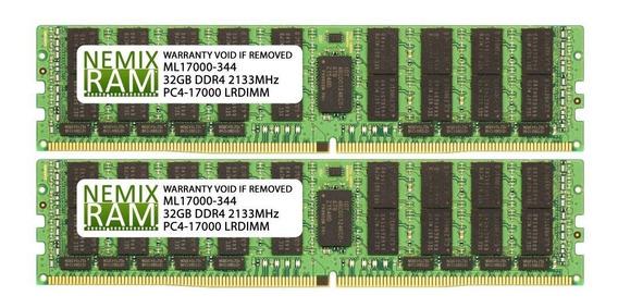 Memoria Ram Server 64gb 2x32 Ddr4 Pc4-17000 Ecc Lrdimm 4rx4