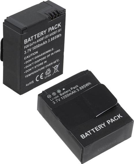 Kit Duas Baterias Para Gopro Hero 3\3+ Black Silver E White