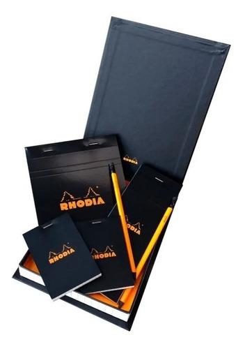 Imagem 1 de 1 de Box Rhodia Bloco Notas Essencial Preto Quadriculado
