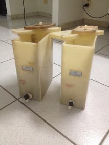 02 Tanques De Plástico Rígido Com Tampa Flutuante, Para Lab