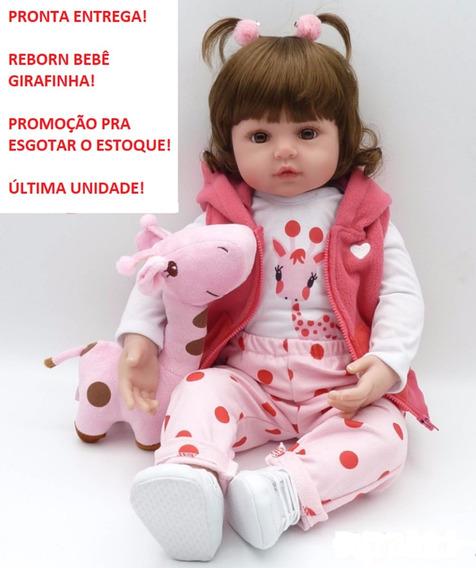 Promoção! Bebê Reborn Girafinha Girafa Rosa Pronta Entrega!