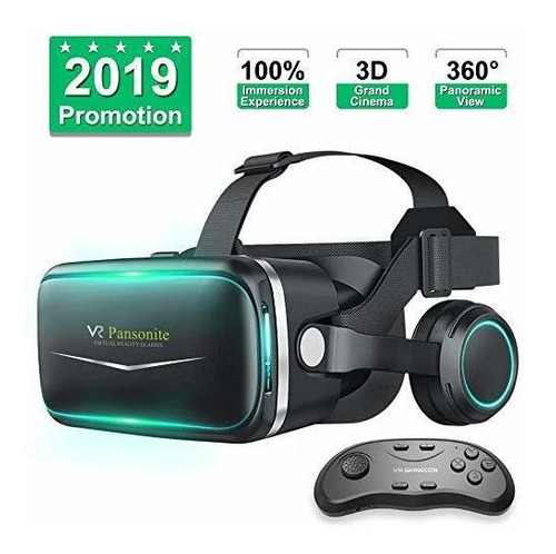 Pansonite Lente Realidad Virtual 3d Vr Audifono