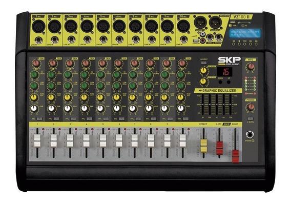 Mesa Amplificada Skp Vz100 10 Canais Mp3 Usb 500w