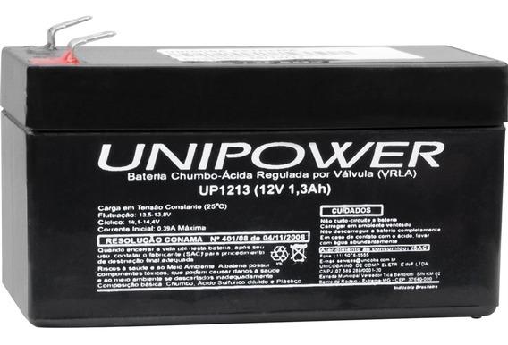 Bateria Chumbo Ácida Selada 12v/1.3a Up1213 Unipower