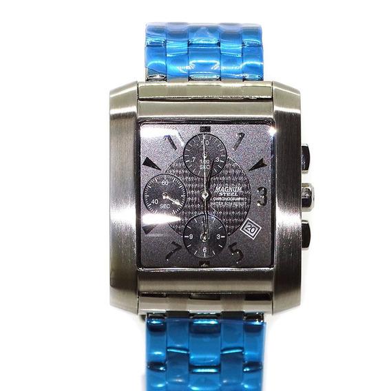 Relogio Masculino Magnum Steel Chronograph Ma30356c