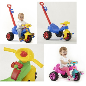 Triciclo Infantil Carrinho De Passeio Com Empurrador Motoca