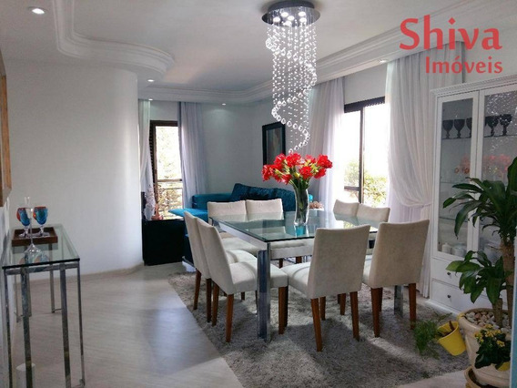 Apartamento De Alto Padrão, Todo Mobiliado, À Venda No Centro Da Penha - Ap0138