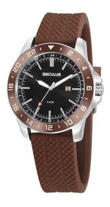 Relógio Esportivo Seculus Pulseira Silicone Com Calendário.