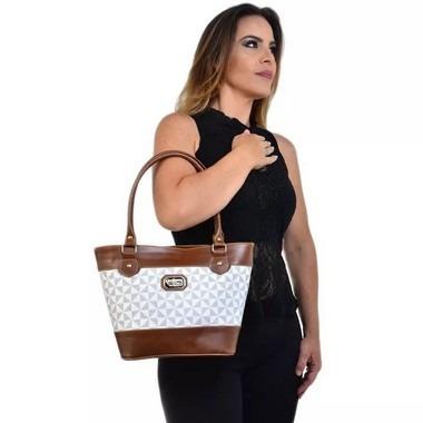 Bolsa Feminina Grande De Alça Dupla Zíper Catavento