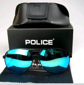 e94ef9075 Óculos Sol Aviador Masculino Police 100% Uva-b Frete Grátis
