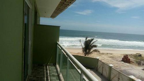 Imagem 1 de 8 de Apartamento Térreo, Na Orla Da Praia, Com 2 Quartos, 70 M² Por R$ 240.000 - Cordeirinho - Rj - Ap41495