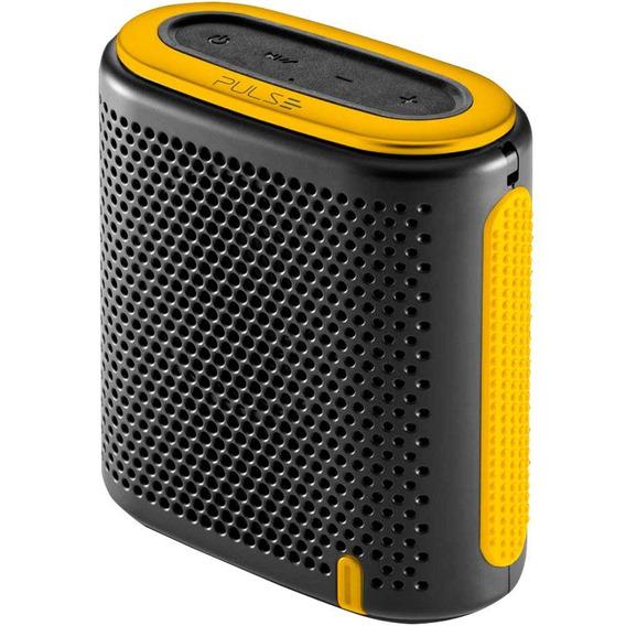 Caixa De Som Mini Bluetooth Preto/amarelo Sp238 Pulse