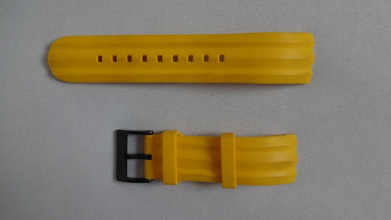 Pulseira Relógio Nautica 22mm Amarelo
