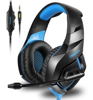 Auriculares Estéreo Para Juegos Onikuma Con Micrófono-azul