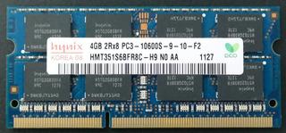 Memoria 4gb Para Laptop Sk Hynix Ddr3 1333mhz Pc3-10600s Cl9 Modelo Hmt351s6cfr8c-h9