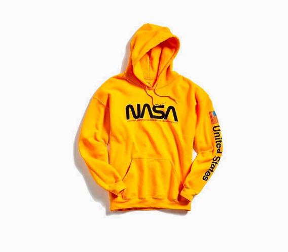 Sueter Sweater Nasa Amarillo Moda Usa