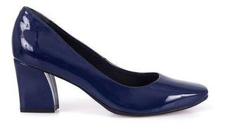 Zapatos Verniz Azul, Bebece 4216-021 Taco Grueso