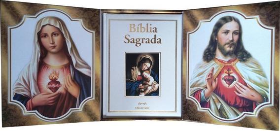 Bíblia Sagrada Católica - Edição Luxo Com Caixa Oratório Bca