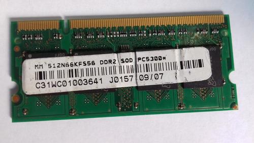 Memória 512mb  P/ Notebook Itaucom Brasil 512n66kfs56